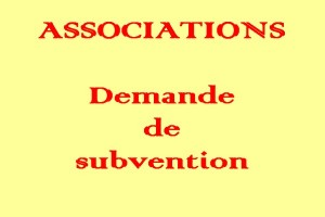 demande de subvention associations
